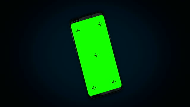 3D mobile phone  with track point and green screen