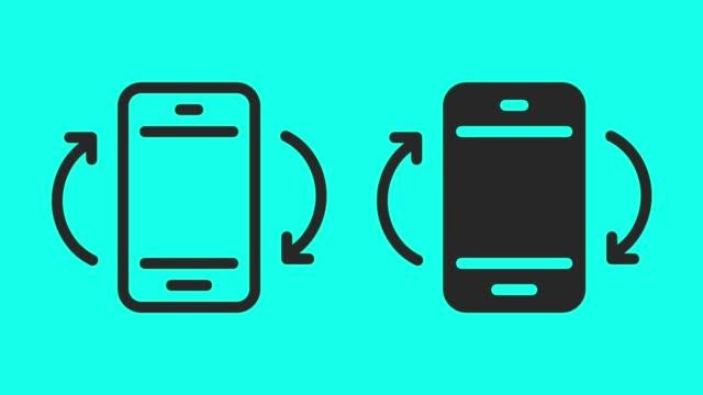 rotazione dello schermo mobile - anima vettoriale - girare video stock e b–roll