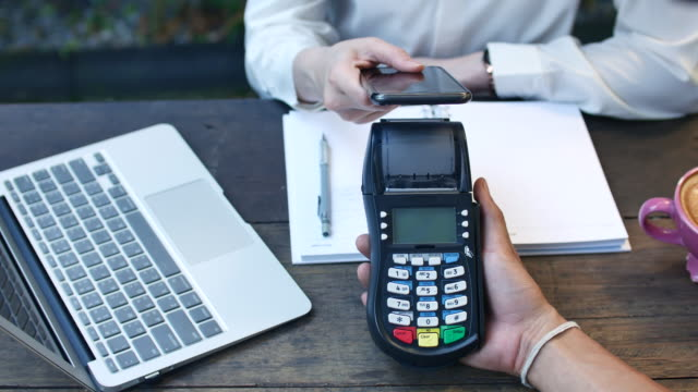 mobile/contactless payment - electronic banking stock videos & royalty-free footage