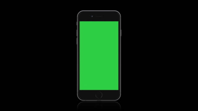 vídeos de stock e filmes b-roll de mockup of smartphone mobile device screen, blank green screen foreground - modelo arte e artesanato