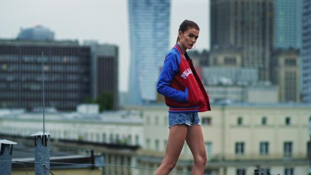 model catwalk in big city