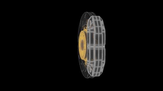 3D model of brake disc