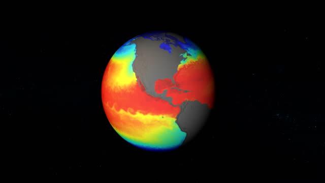vidéos et rushes de modèle des températures de la terre. images du domaine public nasa - température