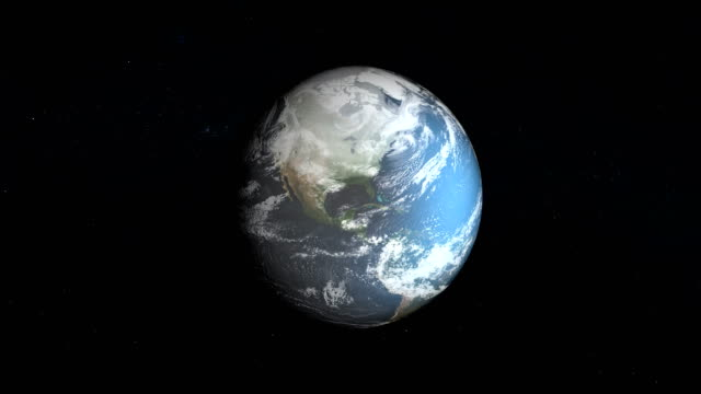 model of ice sheet on earth. nasa public domain imagery - clima video stock e b–roll