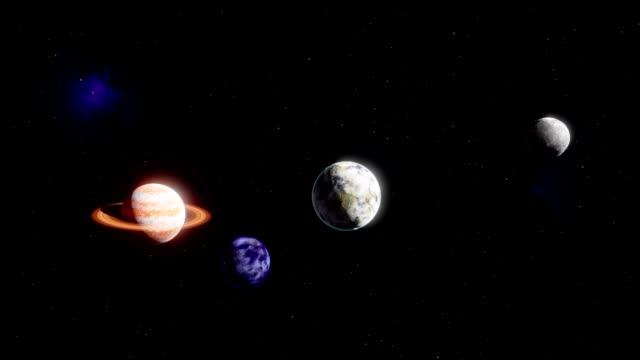 3D model of the solar system video