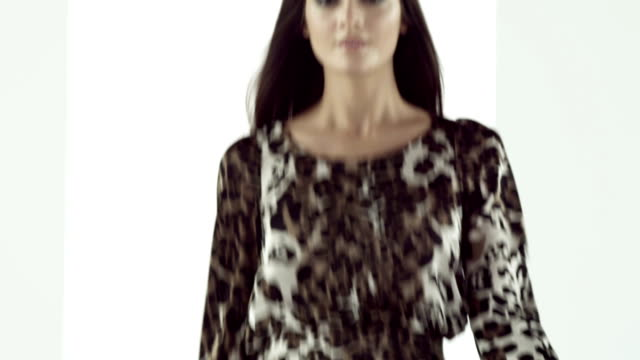 Model on catwalk video