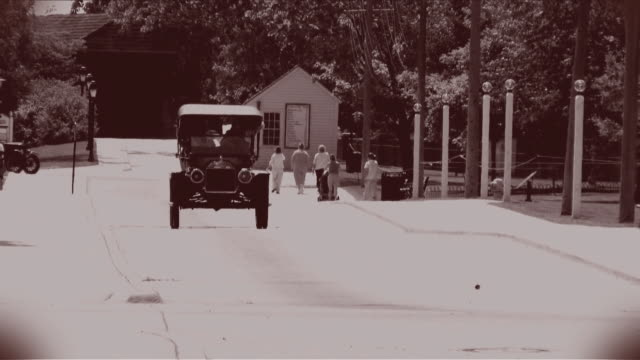 Model T 02 Old cars, treated to look like old black and white film. obsolete stock videos & royalty-free footage