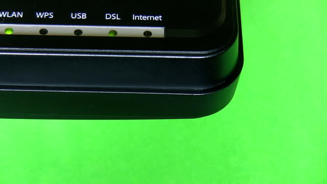Modem corner isolated on green background video