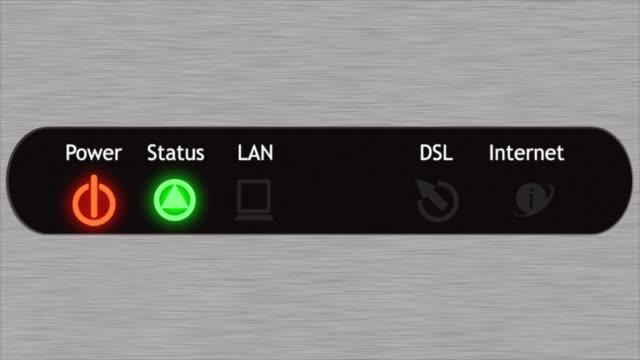 DSL modem front panel video