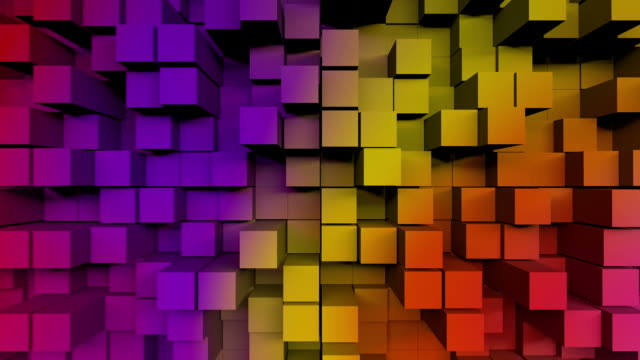 Modern 3D block background in vibrant colors video