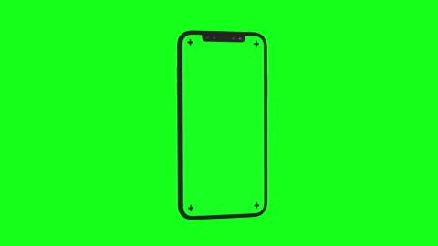 vídeos de stock, filmes e b-roll de smartphone 3d moderno gira em chroma key verde bg - smartphone