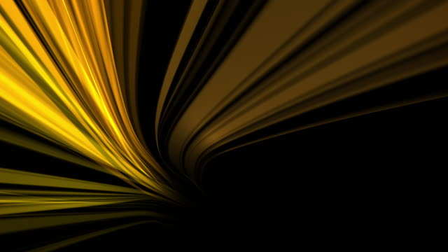 vídeos de stock e filmes b-roll de modern abstract gold stream background loop - gradients golden ribbons