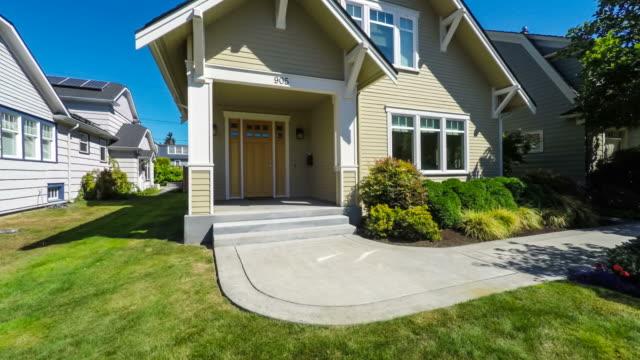 modern american suburban home exterior - house video stock e b–roll