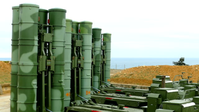 modern anti-aircraft missile system of large and medium range on the coast modern anti-aircraft missile system of large and medium range on the coast nuclear missile stock videos & royalty-free footage