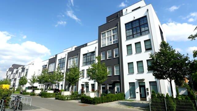 modern apartments - contemporary architecture stock videos & royalty-free footage