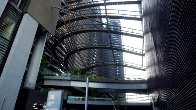 Modern Architecture Interior Courtyard of Office Skyscraper Campus in City