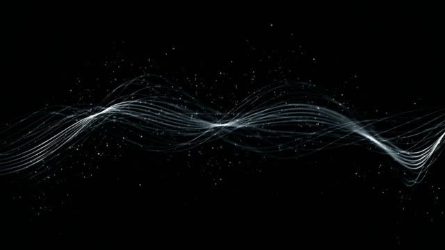 stockvideo's en b-roll-footage met moderne artistieke golven lijnen met oneindige lus - touw