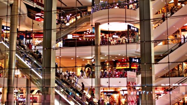 vídeos de stock, filmes e b-roll de asiático moderno shopping mall - shopping center
