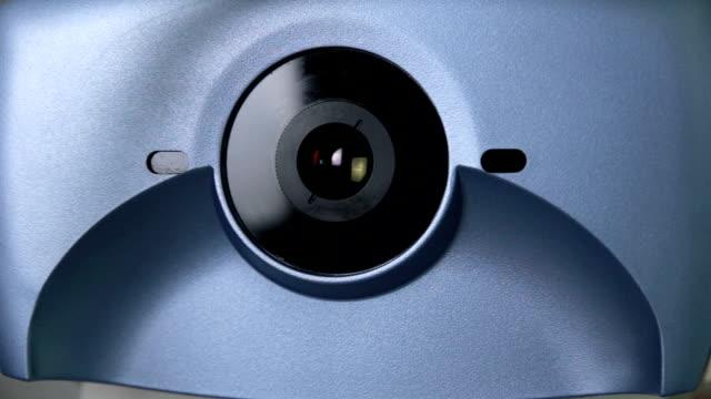 Modern automated medical machine examining eyeball. Eye examination test on a professional medical equipment screen video