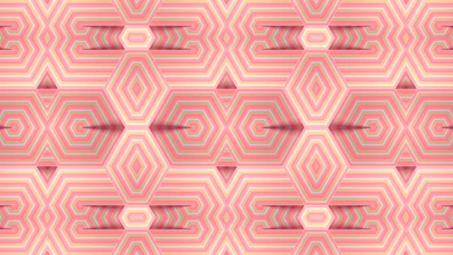Modern background with striped geometric motion pattern. Abstract kaleidoscopic VJ motion footage. Digital seamless loop animation. 3d rendering. 4K, UHD Modern background with striped pink geometric motion pattern. Digital technology backdrop. Abstract kaleidoscopic VJ motion footage. Digital seamless loop animation. 3d rendering. 4K, Ultra HD resolution art deco architecture stock videos & royalty-free footage