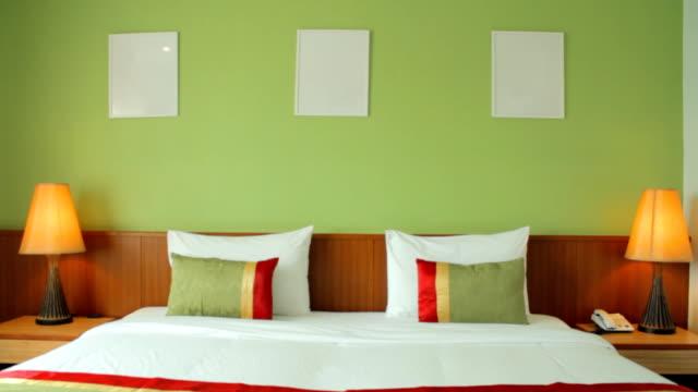 modern bedroom and white frames, Pattaya video