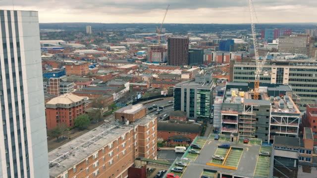 Modern Birmingham Skyline featuring Skyscrapers, Cranes and Towerblocks video