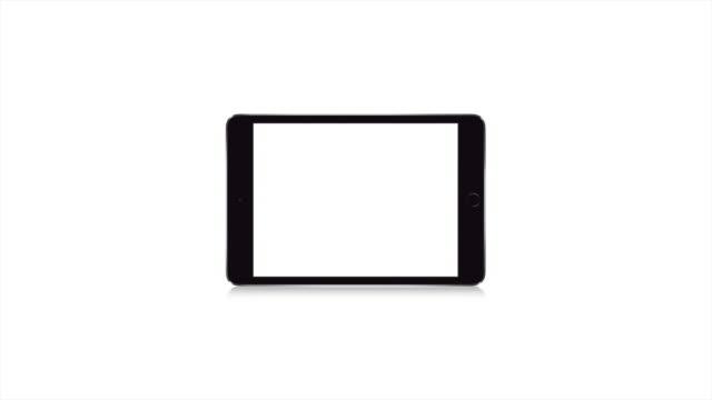 Modern Black No Name Tablet, Blank White Screen Technology Digital Device video