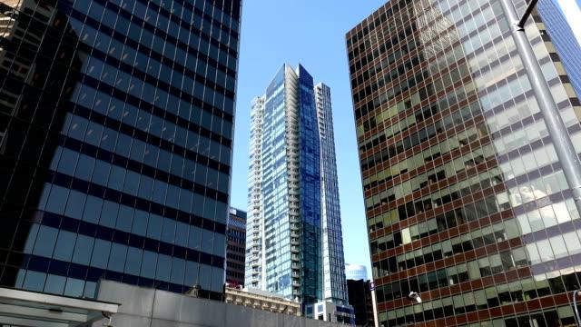 modern affärsbyggnad i centrala vancouver bc kanada. - fornhistorisk tid bildbanksvideor och videomaterial från bakom kulisserna