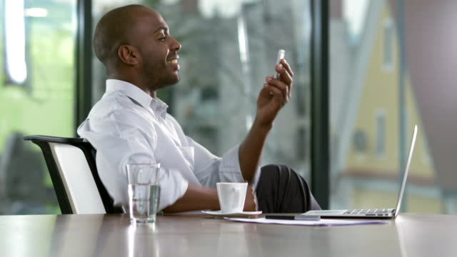 MS Modern Businessman Having A Video Call video