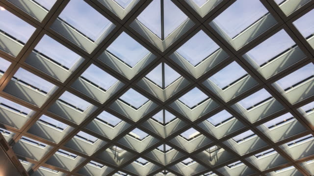 Video Modern Ceiling Of a Public Building