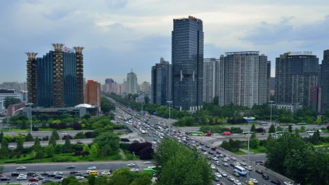Modern City Traffic in Beijing, Time Lapse video