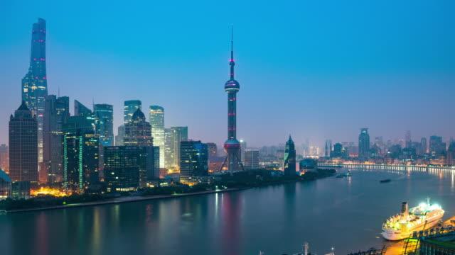 Modern cityscape and skyline of Shanghai