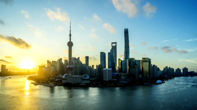 modern cityscape and skyline of shanghai - asia travel stock videos and b-roll footage