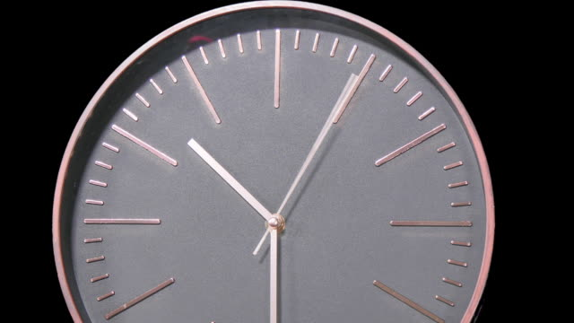 Modern Clock Face Fast Time Lapse video