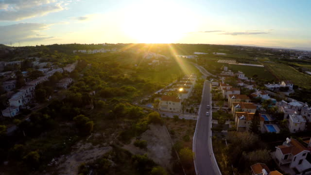 Modern comfortable apartments and cottages for rent or sale in Cyprus, aerial video