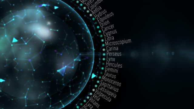 modern constellations - simbolo concettuale video stock e b–roll