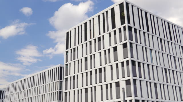 Modern Corporate Office Buildings in Berlin 4k video of a corporate office building in Berlin's financial district. office park stock videos & royalty-free footage
