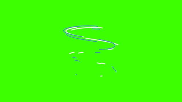 modern flat short animations set effects elements,green screen chroma key for editors video