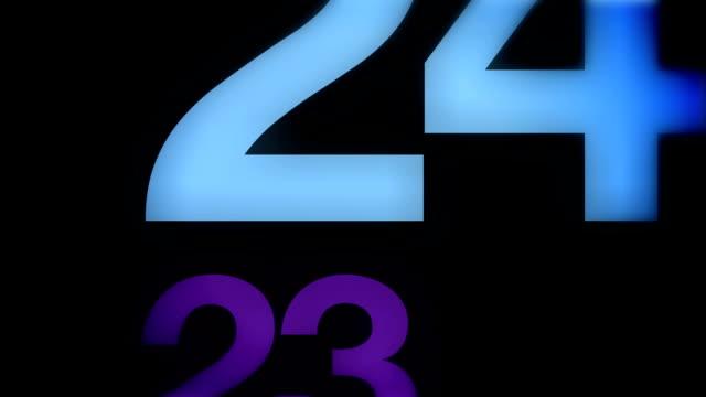 moderno divertimento conto alla rovescia da 30 a 0 - 30 34 anni video stock e b–roll