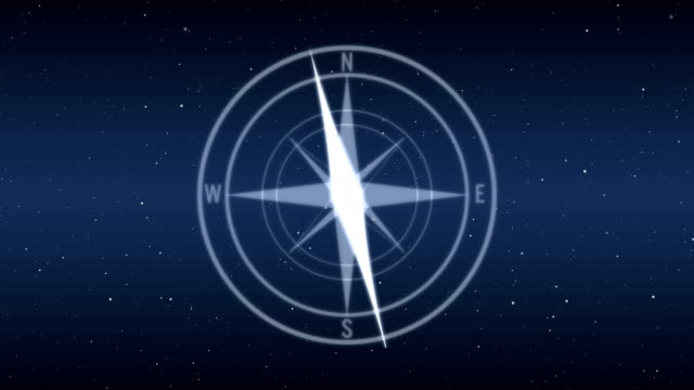 Modern futuristic digital compass with HUD design. Modern futuristic digital compass. HUD design. Concept of direction and travel. navigational compass stock videos & royalty-free footage