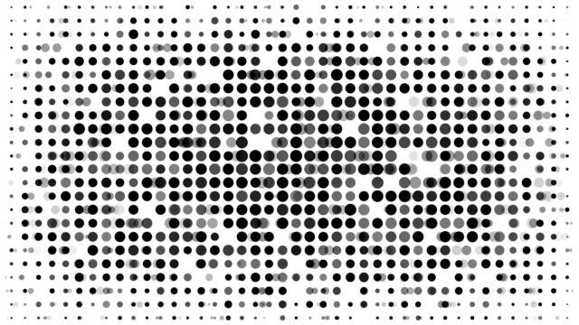 空白:モダンなハーフトーンスタイル(ループ) - 斑点点の映像素材/bロール