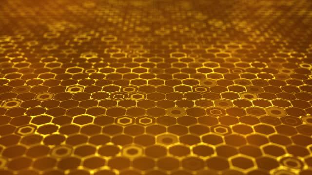Modern Hexagon Grid Pattern Background