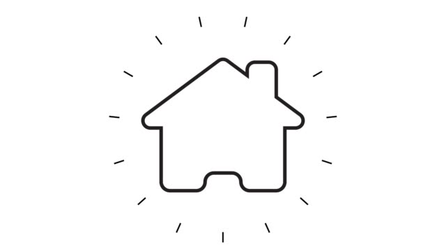 Modern Home Line Icon Animation on white background Modern Home Line Icon Animation on white background home icon stock videos & royalty-free footage