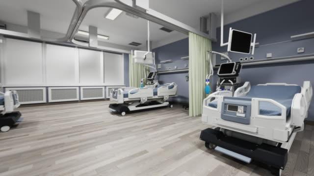 stockvideo's en b-roll-footage met moderne ziekenhuisafdeling - ventilator bed