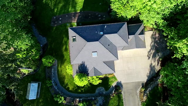 Modern House Aerial View video