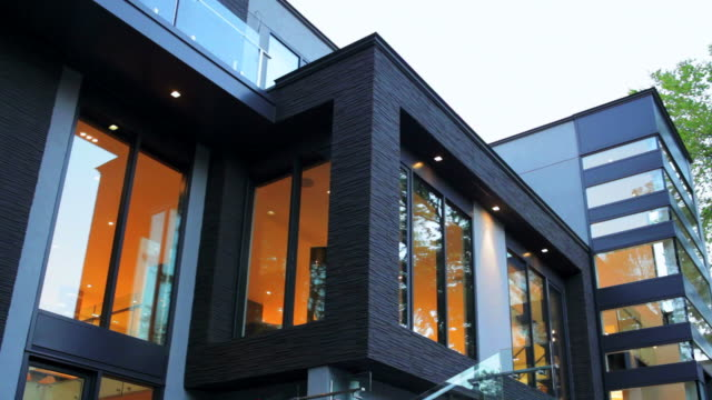 modern house exterior - contemporary architecture stock videos & royalty-free footage