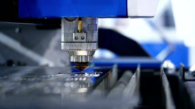 Modern Industrial Robotics Weld Laser Cut Tool. Metal Work.