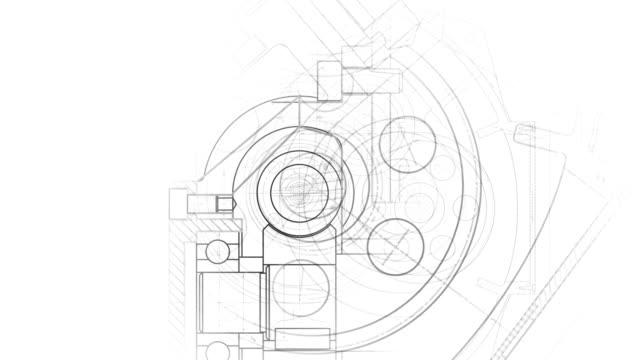 modern industry blueprint - набросок стоковые видео и кадры b-roll