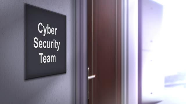 modern interior building signage series - cyber security team - phishing filmów i materiałów b-roll