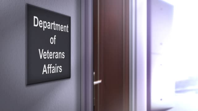 Modern interior building signage series - Department of Veterans Affairs Modern interior building signage series - Department of Veterans Affairs veteran stock videos & royalty-free footage